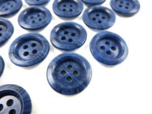 K009 Knapp 15 mm blåmarmorerad