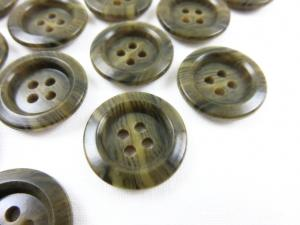 K009 Knapp 19 mm brunmarmorerad