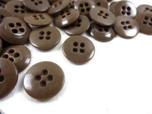 K010 Knapp 15 mm brun