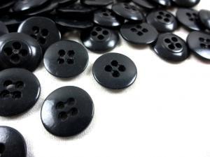 K010 Knapp 15 mm mörkgrå