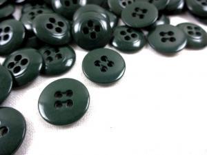 K010 Knapp 15 mm mörkgrön