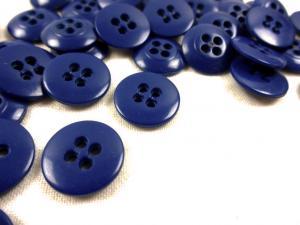 K010 Knapp 15 mm mörkblå