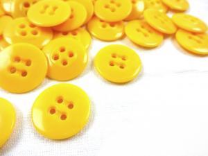 K010 Knapp 17 mm gul