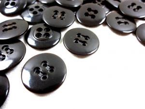 K010 Knapp 17 mm mörkbrun