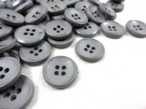 K013 Knapp 15 mm grå