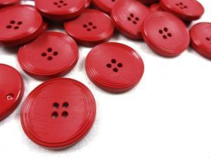K013 Knapp 25 mm röd