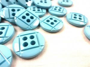 K014 Knapp 23 mm blå