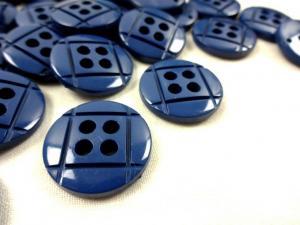 K014 Knapp 23 mm mörkblå