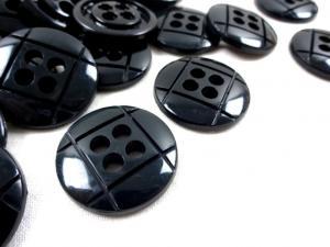 K014 Knapp 29 mm svart