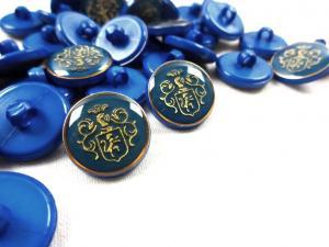 K015 Knapp Emblem 16 mm blå