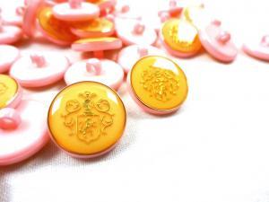 K015 Knapp Emblem 18 mm rosa