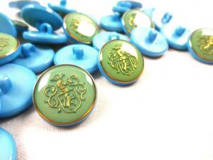 K015 Knapp Emblem 18 mm ljusblå