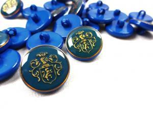 K015 Knapp Emblem 18 mm blå