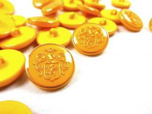 K015 Knapp Emblem 20 mm gul