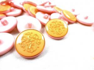 K015 Knapp Emblem 20 mm rosa
