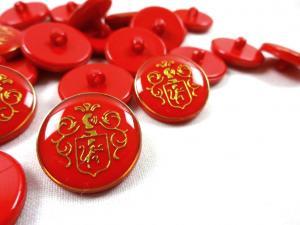 K015 Knapp Emblem 20 mm röd