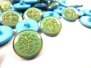K015 Knapp Emblem 20 mm ljusblå