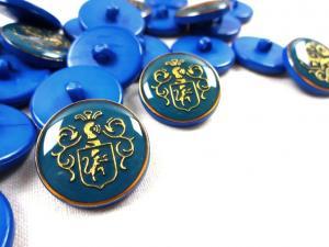K015 Knapp Emblem 20 mm blå