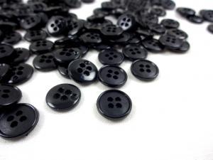 K037 Knapp 12 mm svart
