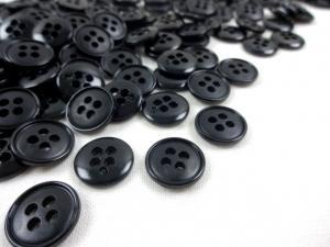 K037 Knapp 13 mm svart