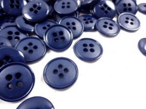K037 Knapp 15 mm mörkblå