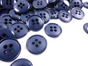 K037 Knapp 16 mm blå
