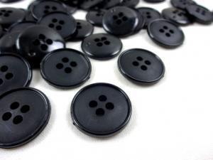 K037 Knapp 20 mm svart