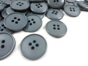 K037 Knapp 23 mm grå