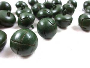 K098 Knapp konstläder 18 mm grön