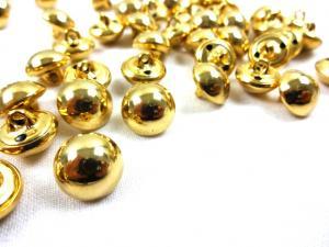 K124 Knapp metall 12 mm guld