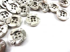 K128 Knapp 16 mm silver
