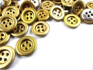 K139 Knapp metall 14 mm guld