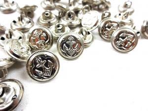 K152 Knapp metall Ankare 14 mm silver