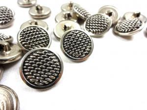 K153 Knapp metall 19 mm silver
