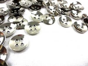K178 Knapp metall 11 mm silver