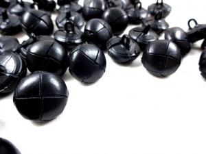K243 Knapp konstläder 16 mm svart