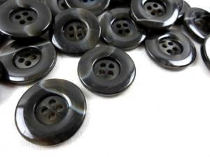 K299 Plastic Button 25 mm melange dark brown