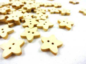K299 Wood Button Star birch