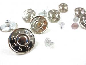 K357 Jeansknapp Stjärnor silver