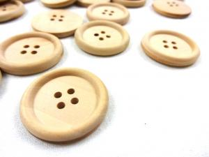 K700 Wooden Button with Rim 30 mm