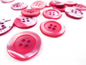 K904 Knapp pärlemor 23 mm rosa