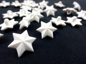 K935 Knapp Stjärna vit