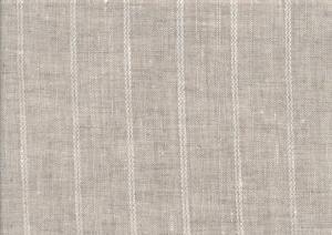 Pure Linen Fabric stripe unbleached