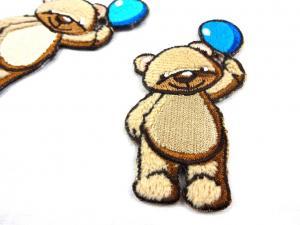 M214 Tygmärke björn med ballong blå