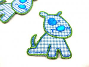 M219 Tygmärke hund blå