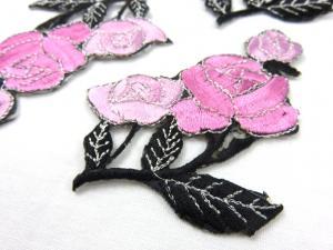 M283 Tygmärke rosor rosa