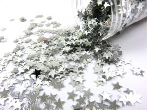 M288 Paljettstjärnor silver