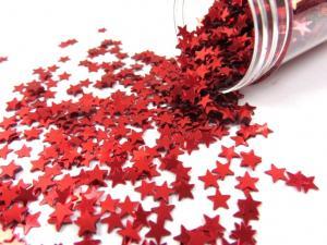 M288 Paljettstjärnor röd