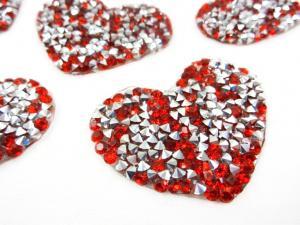 M304 Strassmärke hjärta röd
