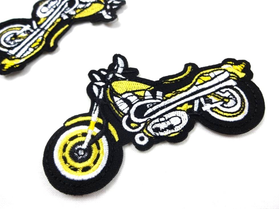 M356 Tygmärke Motorcykel gul